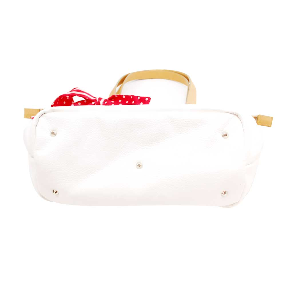 【CRYSTAL BALL】トートバッグ(カプチーノ M)ホワイト Toujours ensemble 3155134406031 LG