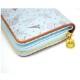 二つ折り財布(総柄キルトラウンド)ブルー GL-0063 LG