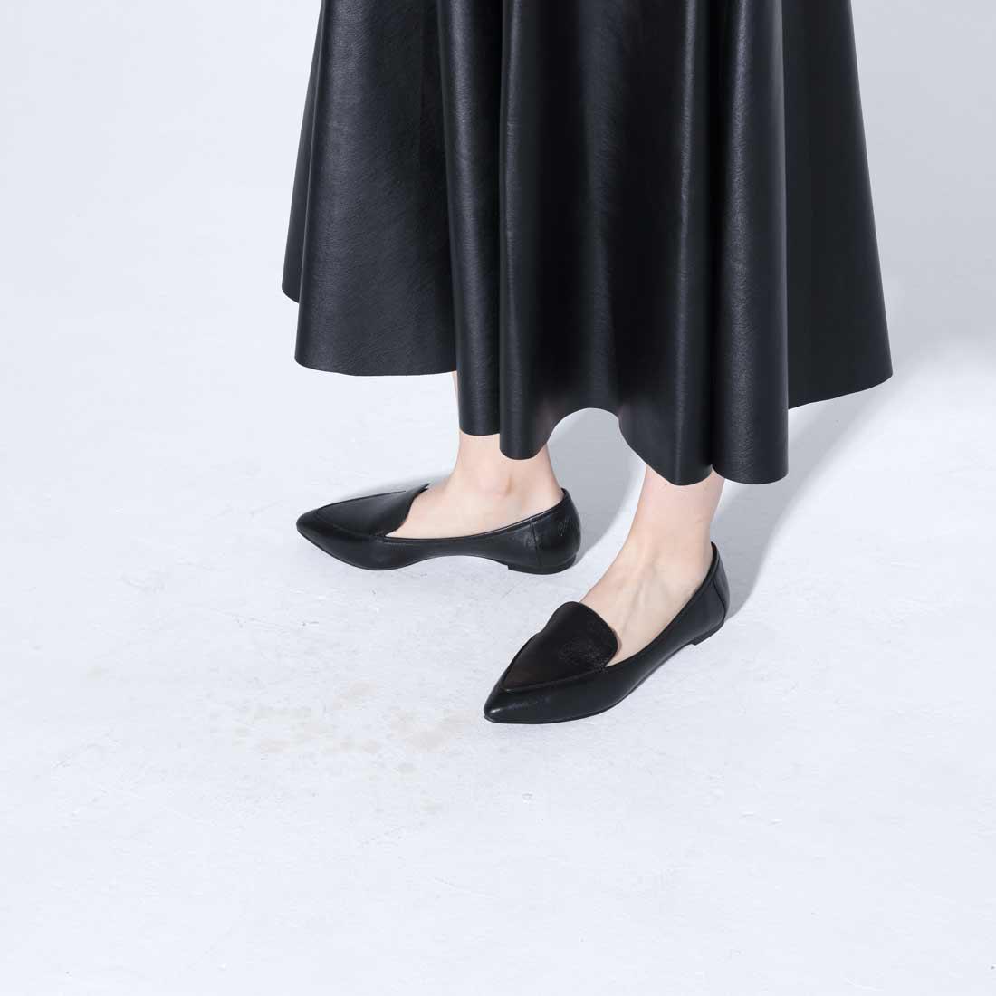 Hanako雑誌掲載品【羊革】ポインテッド ローファー ブラック