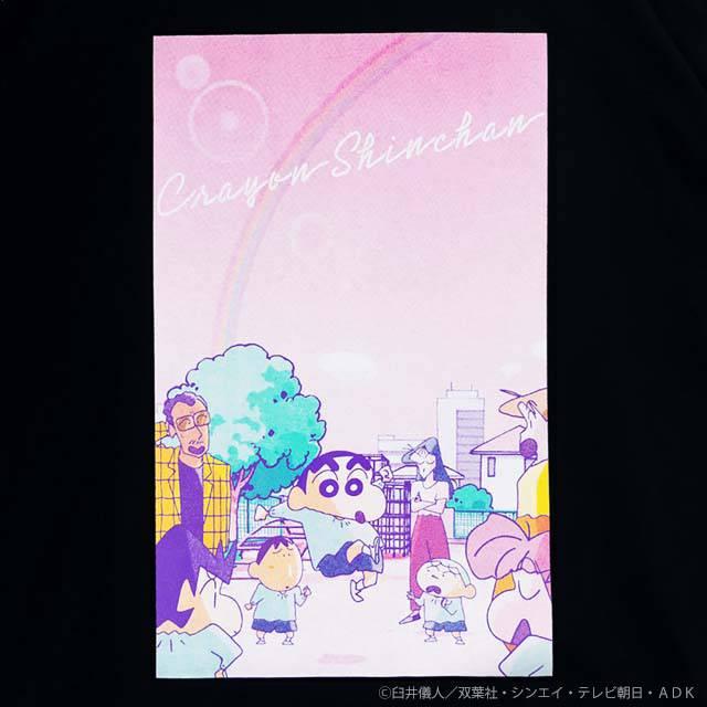 ふたば幼稚園ビッグTシャツ 【BLACK】 /クレヨンしんちゃん×リッスンフレーバー