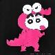 【7/31(土)発売:予約受付中】 ワニ山しんちゃんショルダージップトップス 【BLACK】 /クレヨンしんちゃん×リッスンフレーバー