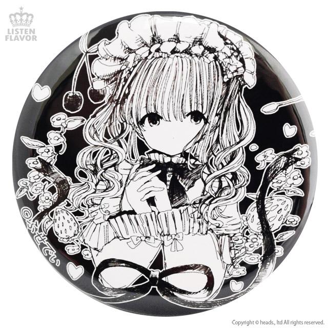 ロリィタティータイムコラボ缶バッジ (57mm) / LISTEN FLAVOR×ふせでぃ [原宿系ファッション]
