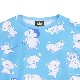 シロ総柄ビッグTシャツ 【L.BLUE】 /クレヨンしんちゃん×リッスンフレーバー