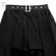 ショーパン付レイヤードヘムラインスカート 【BLACK】/リッスンフレーバー [原宿系ファッション]