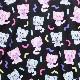 ネガ&ポジ 総柄カットソー【BLACK】 /魔法の天使クリィミーマミ×リッスンフレーバー [原宿系ファッション]
