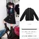 シースルーオーガンジージャケット【BLACK】/リッスンフレーバー
