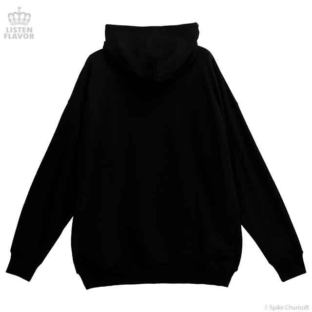 七海千秋のコンティニューパーカー【BLACK】/ ダンガンロンパ1・2 Reload×リッスンフレーバー