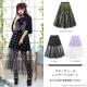 スターチュールレイヤードスカート【BLACK】/リッスンフレーバー