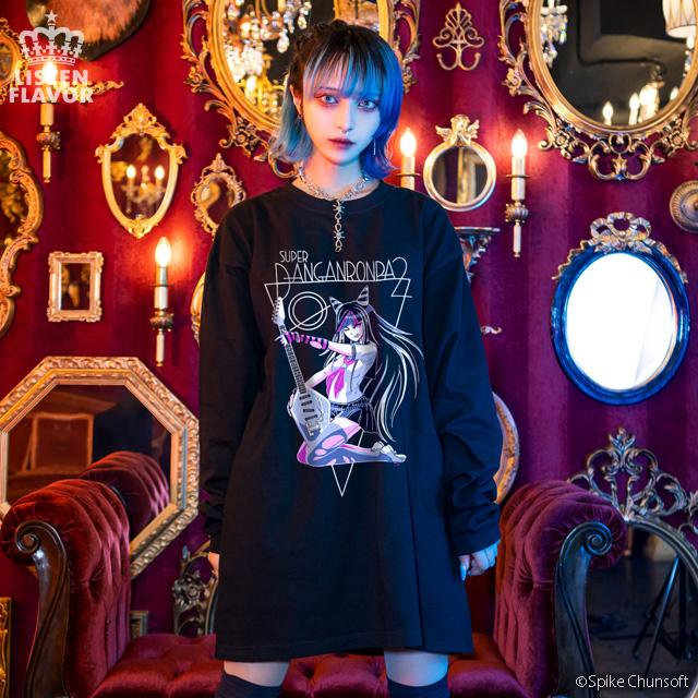 澪田唯吹のロックスターロンT 【BLACK】 / ダンガンロンパ1・2 Reload×リッスンフレーバー