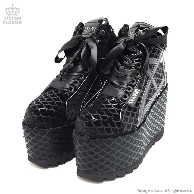 Mermaid platform trainers マーメイドレースアップ厚底ブーツ / KILLSTAR(キルスター) [原宿系ファッション]