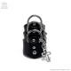 リング3連レザーアーマーリングチェーンオープンクロス 【黒】/Brindle (ブリンドル)[原宿系ファッション]