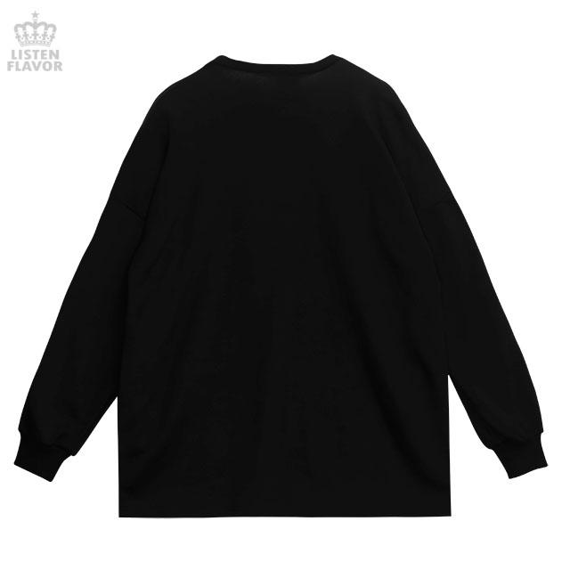 お注射ベアBIGプルオーバー 【BLACK×PURPLE】 /リッスンフレーバー