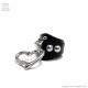 オープンハート大付きリング  【黒xコニカルシルバー】/Brindle (ブリンドル)[原宿系ファッション]