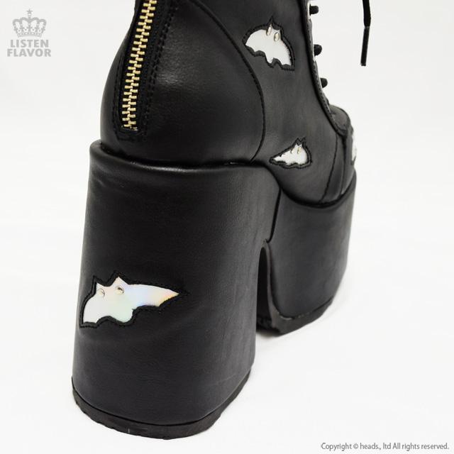 CAMEL-201 コウモリレースアップ厚底ブーツ/ DEMONIA(デモニア) [原宿系ファッション]