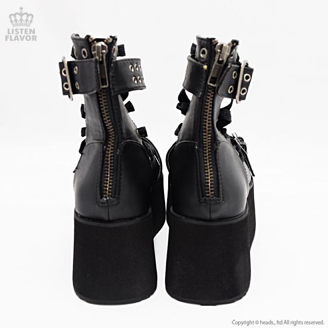 GRIP-105 バックルストラップアンクルブーツ/ DEMONIA(デモニア) [原宿系ファッション]
