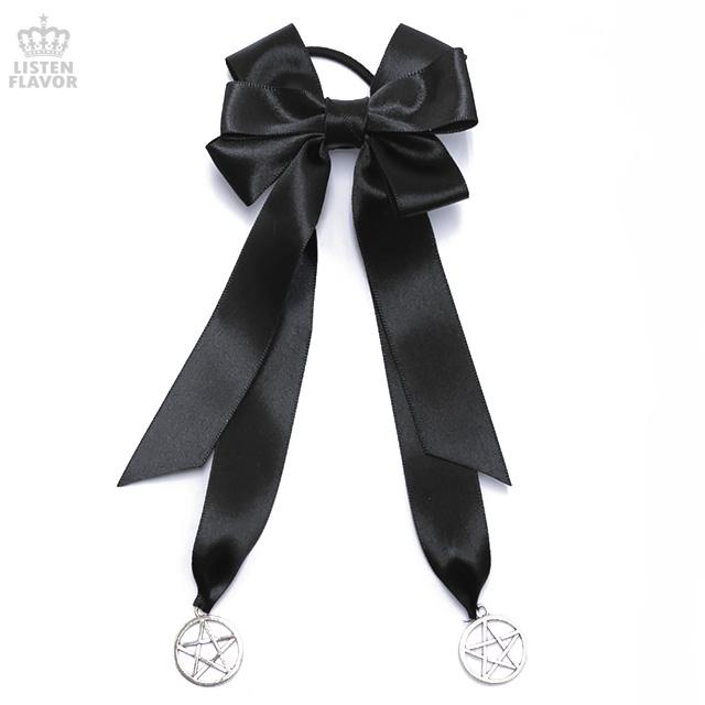 魔法陣ヘアゴム【BLACK/SILVER】 / melonDOLL-魔法少女-[原宿系ファッション]