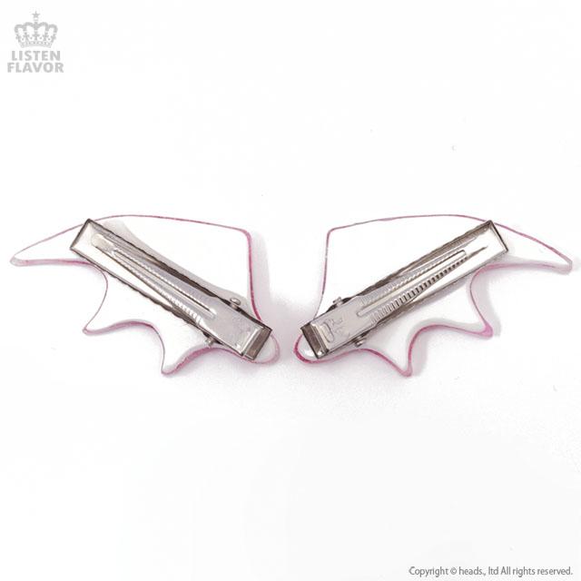 悪魔の羽ヘアクリップ 【おくすり総柄】  /Conpeitou. [原宿系ファッション]