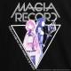 MAGIA RECORD BIG Tシャツ【BLACK】 /マギアレコード 魔法少女まどか☆マギカ外伝×リッスンフレーバー[原宿系ファッション]