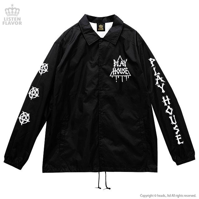 プレイハウスコーチジャケット【BLACK】/リッスンフレーバー [原宿系ファッション]