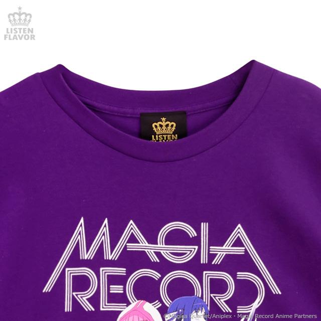 MAGIA RECORD BIG Tシャツ【PURPLE】 /マギアレコード 魔法少女まどか☆マギカ外伝×リッスンフレーバー