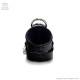 リング3連レザーアーマーリング チェーンオープンハート付【黒オーシャンプリントパイソン】/Brindle (ブリンドル)[原宿系ファッション]