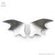 悪魔の羽ヘアクリップ 【グラデBLACK WHITE】  /Conpeitou.