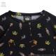 ソウルジェム総柄 BIG Tシャツ【BLACK】 /マギアレコード 魔法少女まどか☆マギカ外伝×リッスンフレーバー[原宿系ファッション]