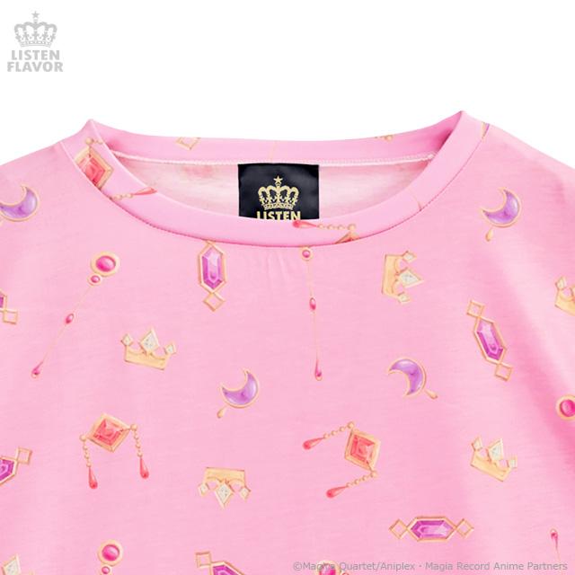 ソウルジェム総柄 BIG Tシャツ【MAGICAL PINK】 /マギアレコード 魔法少女まどか☆マギカ外伝×リッスンフレーバー[原宿系ファッション]