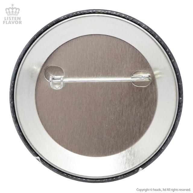 バッドばつ丸のドッペン缶バッジ(57mm) /バッドばつ丸×リッスンフレーバー