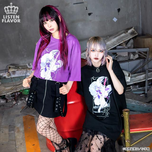 殺生丸BIG Tシャツ【LAVENDER】 /犬夜叉×リッスンフレーバー [原宿系ファッション]