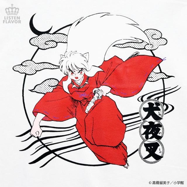 犬夜叉切り替えカットソー【WHITE】 /犬夜叉×リッスンフレーバー