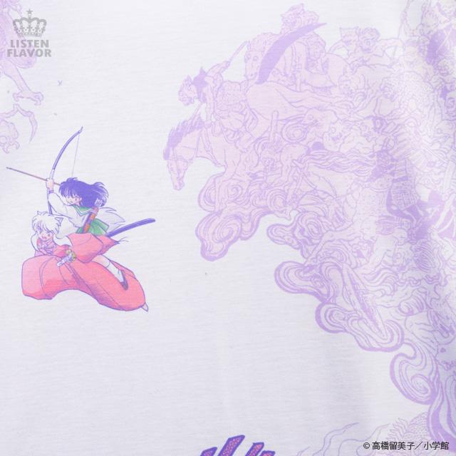 犬夜叉・かごめ妖怪退治カットソー【WHITE】 /犬夜叉×リッスンフレーバー