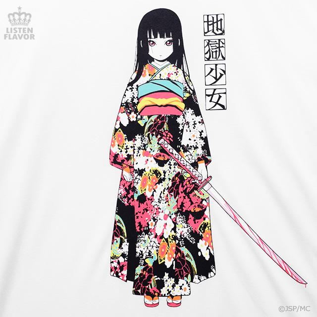 地獄少女ロングカットソー【WHITE】 / 地獄少女×リッスンフレーバー