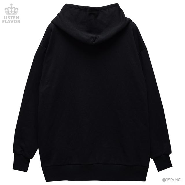 地獄少女BIGパーカー【BLACK】 / 地獄少女×リッスンフレーバー[原宿系ファッション]
