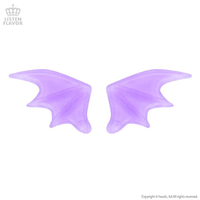 悪魔の羽ヘアクリップ【CLEAR LAVENDER】/Conpeitou.