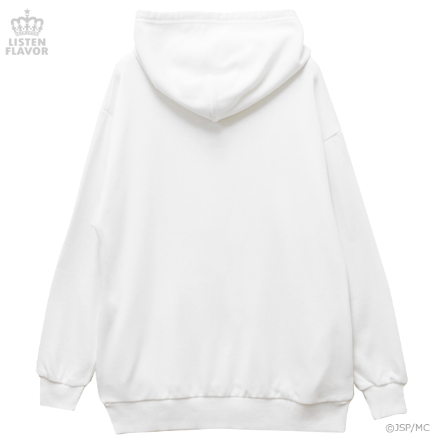 地獄少女BIGパーカー【WHITE】 / 地獄少女×リッスンフレーバー[原宿系ファッション]