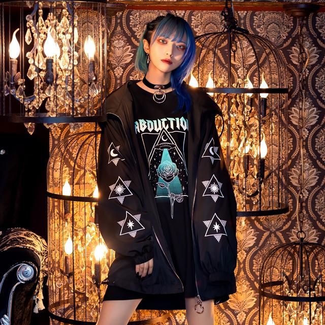 神秘の瞳アノラックジャケット 【BLACK】/リッスンフレーバー