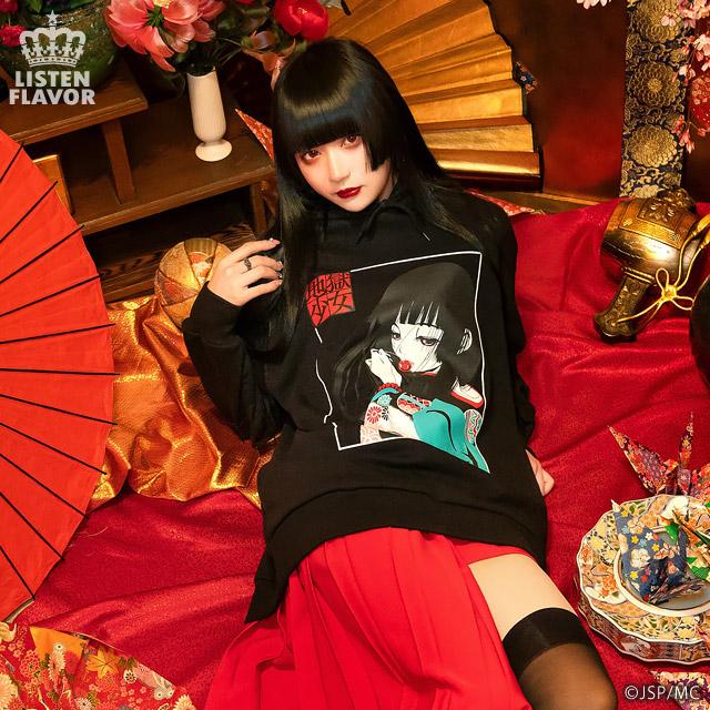 地獄少女BIGパーカー【LAVENDER】 / 地獄少女×リッスンフレーバー[原宿系ファッション]