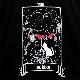 月の暗示タロットパーカー 【BLACK】/リッスンフレーバー