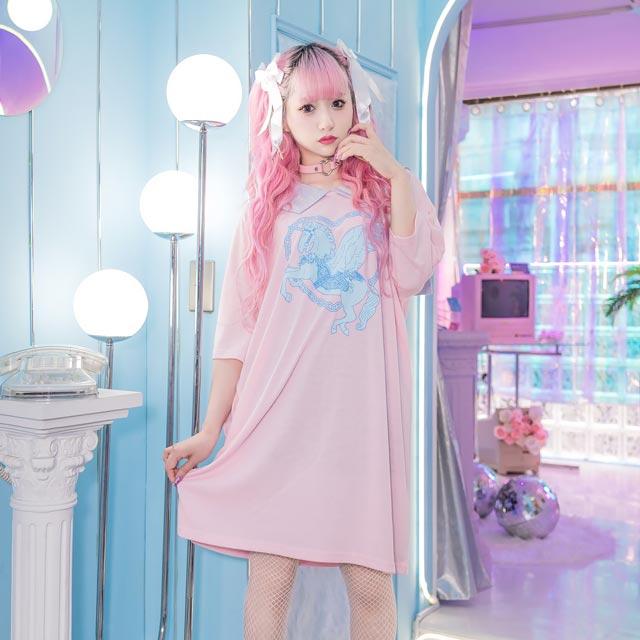 シスターりぼんバレッタ【BLACK】 / melonDOLL-魔法少女-[原宿系ファッション]