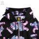 囚われのベア総柄ジップパーカー 【BLACK×PINK】/リッスンフレーバー [原宿系ファッション]
