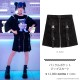 バックルポケットジップスカート 【BLACK】/リッスンフレーバー