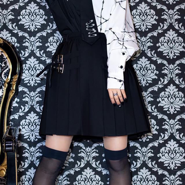 サイドベルトプリーツスカート 【LAVENDER】/リッスンフレーバー