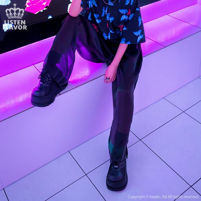 オーガンジーレイヤードパンツ 【LAVENDER】/リッスンフレーバー [原宿系ファッション]