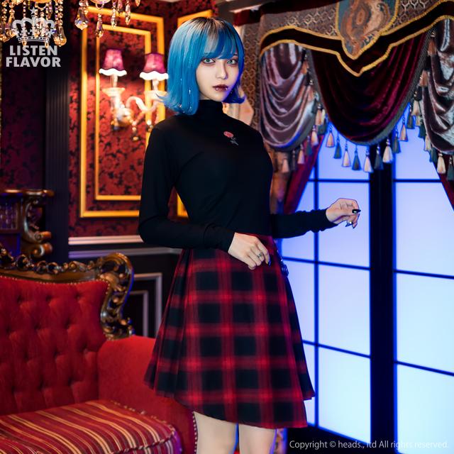 アンティークローズハイネックトップス 【BLACK】/リッスンフレーバー [原宿系ファッション]