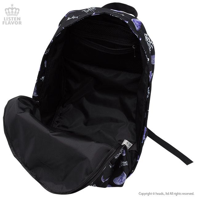 メタルムーン総柄バックパック【BLACK】 /リッスンフレーバー