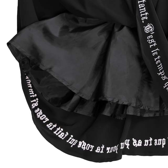 薔薇とアンク刺繍ギャザーワンピ 【白襟】/リッスンフレーバー