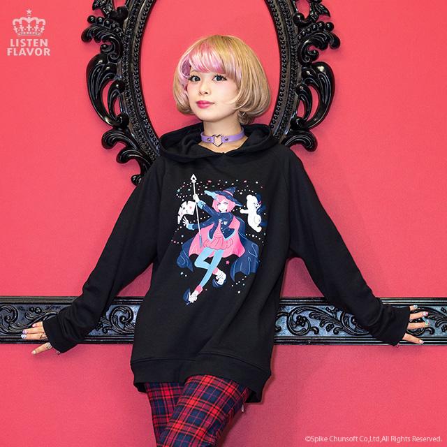 \超高校級のマジシャン/ 夢野秘密子パーカー【B.PINK】 / ダンガンロンパV3×リッスンフレーバー [原宿系ファッション]