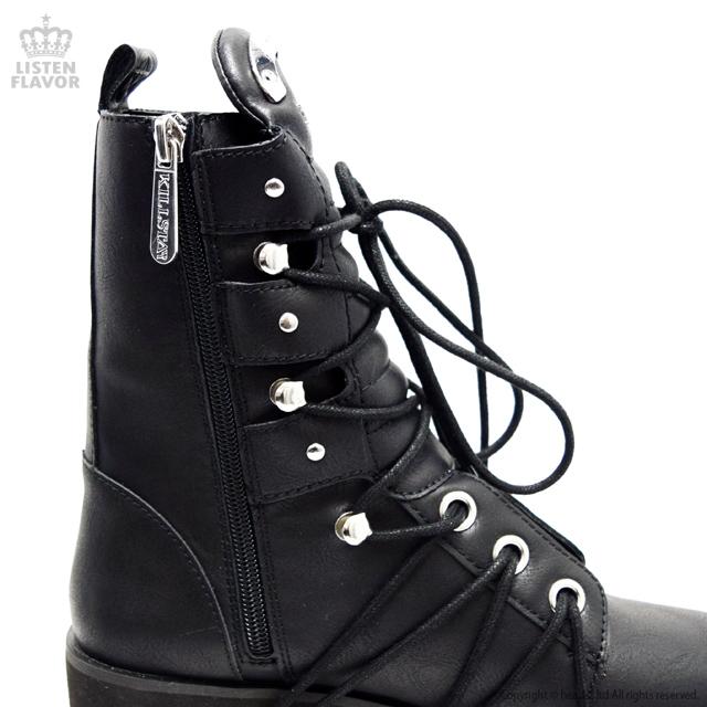Hell Bound Boots ペンタグラム抜き厚底ブーツ / KILLSTAR(キルスター) [原宿系ファッション]