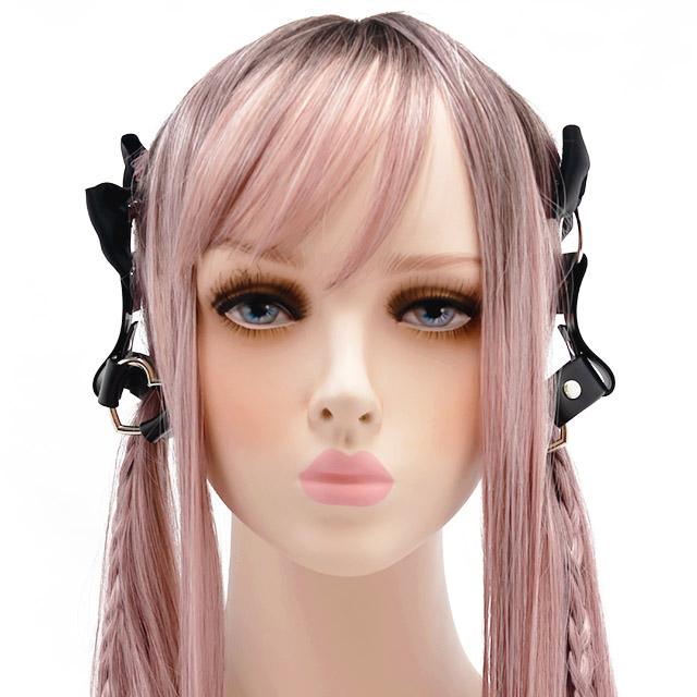 ツインテールハーネス 【オープンハートBLACK】 / melonDOLL-魔法少女-[原宿系ファッション]